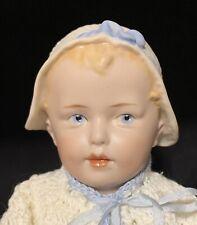 Huebach Bonnet Boy Toddler Artist Antique All Bisque 9� Doll Repro