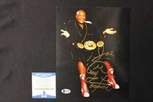 GEORGE FOREMAN SIGNED 8X10 PHOTO PERSONALIZED AUTOGRAPH BECKETT COA JB920
