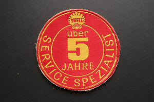Orig. alter Aufnäher Shell über 5 Jahre Service Spezialist 60íger Jahre
