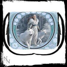 Anne Stokes Messenger Bag featuring Winter Guardian design