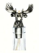 Moose Pewter Winelight. Oil Lamp for Wine Bottle