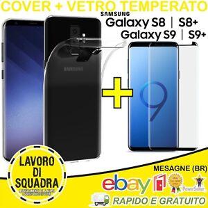 COVER + VETRO TEMPERATO 3D CURVO SAMSUNG GALAXY S8 S8 PLUS S9 S9 PLUS Custodia
