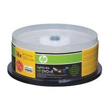 HP LIGHTSCRIBE DVD+R 16X 4.7GB 120 MINS; 25-pk spindle for custom-burned DVDs!