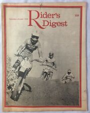 Sep Oct 1978 Texas Motocross Enduro Cross Country Racers Motorcycle Magazine