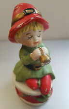 Vintage Christmas Porcelain Bell, Child with Trumpet and Drum (Taiwan)