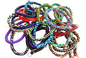 Hundehalsband rund geflochten mit Stop Tauwerk Halsband Stopphalsband elropet