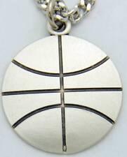 """MRT Saint St Sebastian Mens Medal Basketball Sterling Silver w Chain Boxed 3/4"""""""