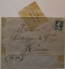 France: 1916 & 17 4x Censored Envelopes to Switzerland.