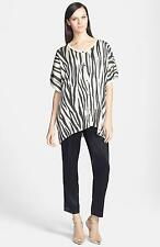 St. John Collection Tiger Stripe Shimmer Knit Trapeze Cardigan Tunic Top. NWT P