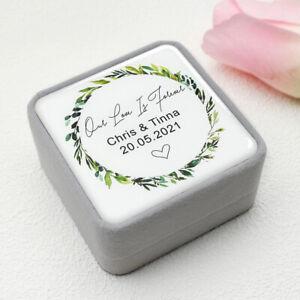 Personalised Wedding Ring Box Wedding Velvet Ring Box Engagement Ring Holder