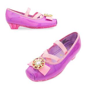 NWT Disney Store Rapunzel Costume Shoes Tangled many sizes Girls