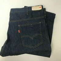 Vintage 1970s NOS Levis 646 Denim Jeans 42x30 Orange Tab