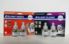 Feliway Classic & MultiCat Diffuser Refills 4 pack 48 ml each