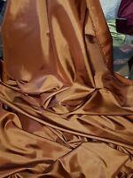 "1M brown COLOURED  TAFFETA  FABRIC 58"" WIDE"
