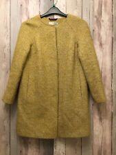 BODEN Cocoon Coat SZ 10 Petite Sienna mustard Wool Alpaca Herringbone Tweed