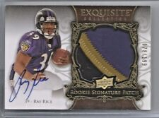 2008 Exquisite Collection Football Ray Rice Auto Patch Rookie Card # 78/199