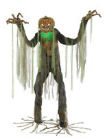 HALLOWEEN LIFE SIZE ANIMATED ROOT OF EVIL PUMPKIN MAN PROP HAUNTED HOUSE DECOR
