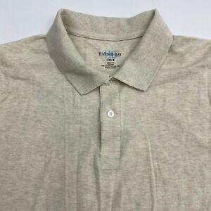 Harbor Bay Polo Shirt Men's Size 3XLT XXXLT Short Sleeve Tan Casual 100% Cotton