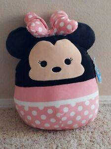 "NWT Squishmallows Kellytoy 2021 Disney Collection 14"" Minnie Mouse"