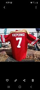 Colin Kaepernick Jersey Number 7 Red, Gold, White-Size XLarge mens- Majestic.