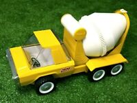 """Vintage 1960's Buddy L Concrete Cement Mixer Yellow Truck 14"""" Pressed Steel RARE"""