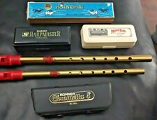 4 x HARMONICAS & 2 x TIN WHISTLES- QUALITY INSTRUMENTS- EXCELLENT USED CONDITION