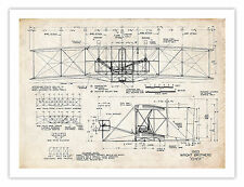 """WRIGHT FLYER POSTER 1903 First Airplane Art Print Brothers Orville Wilbur 18x24"""""""
