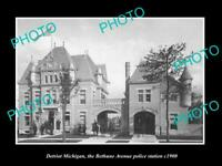 OLD 8x6 HISTORIC PHOTO OF DETROIT MICHIGAN BETHUNE Ave POLICE STATION c1900