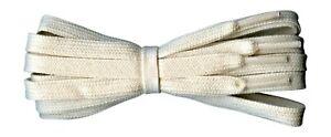 Fabmania flat 8/9 mm cream cotton shoe laces 60 cm - 180 cm