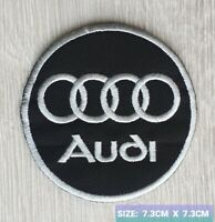 Audi Car Motor logo Badge Embroidered Iron On/Sew On Patch