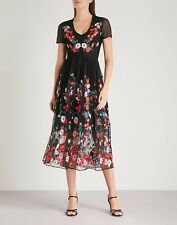 Meje Embroidered Tulle Midi Dress