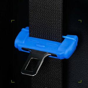 Blue Car Safty Seat Belt Clip Silicone Anti-Scratch Protective Cover Accessories
