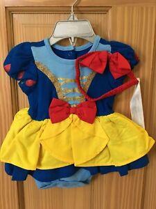 NWT Disney Store Snow White Baby Costume Bodysuit Headband many sizes