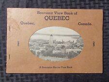 1930s? Souvenir View Book of QUEBEC Canada FN+ 34 pgs Die-Cut Cover Dominion