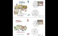ALT BERLIN 1963 2x ERSTTAGSBRIEF FDC MINR 227 + 228 ERSTAUSGABE GESTEMPELT