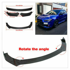 3 Pcs Carbon Fiber Look Car Front Bumper Lip Chin Winglet Splitter Wing Body Kit