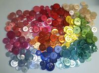 Hand Dyed Buttons Mixed Sizes & Weights - Top Quality Bags of Assorted Colours