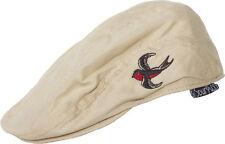 86362 Tan Sparrow Bird Jeff Flat Cap Hat Sourpuss Rockabilly Tattoo INFANT SIZE