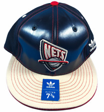 Brooklyn Nets NBA Adidas  Size 7 3/8 Fitted Hat Brand New