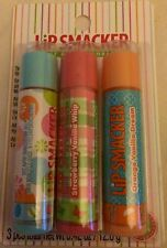 Lip Smacker Lip Gloss Trio Sweet Bubble Gum Strawberry Vanilla Whip Orange Dream