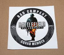 Battlefield Bad Company 2 SQUAD MEMBER RARE Promo Sticker Xbox 360 PS3 EA Dice