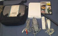 Nintendo Wii White RVL-001 Console Tested GameCube Compatible With Travel Case