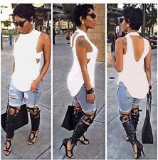 Fashion Summer Lady Women Tee Vest Sleeveless Blouse Casual Tank Tops T-Shirt