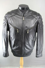 FLYING BIKES OF OAKWOOD NEW YORK CHAPTER BLACK LEATHER BIKER JACKET 40 INCH