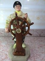 "Vintage 1973 Royal Doulton The Helmsman Figurine HN 2499 9"" Tall"