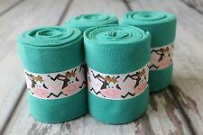 Horse Polo Leg Wraps Stable Wraps Set of 4 Turquoise Base Cow Moo Moo