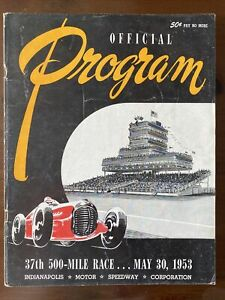 RARE May 30, 1953 37th Indy 500 Mile Indianapolis Speedway Official Program
