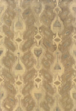 """3x8 Sphinx Abstract Casual Ivory 68004 Ikat Wool Area Rug - Approx 2' 6"""" x 8'"""
