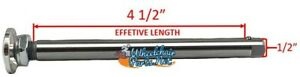 """1/2"""" x 4 1/2"""" Quick release axle for wheelchairs, BIG ALUMINUM Push Button"""