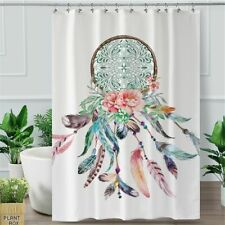 Dreamcatcher Shower Curtain Hippie Waterproof With Hooks  Fabric For Bathroom